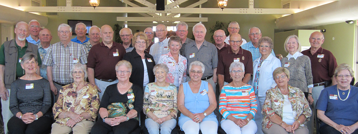 Group photos of the 1950s attendees of the 2015 Arizona Social