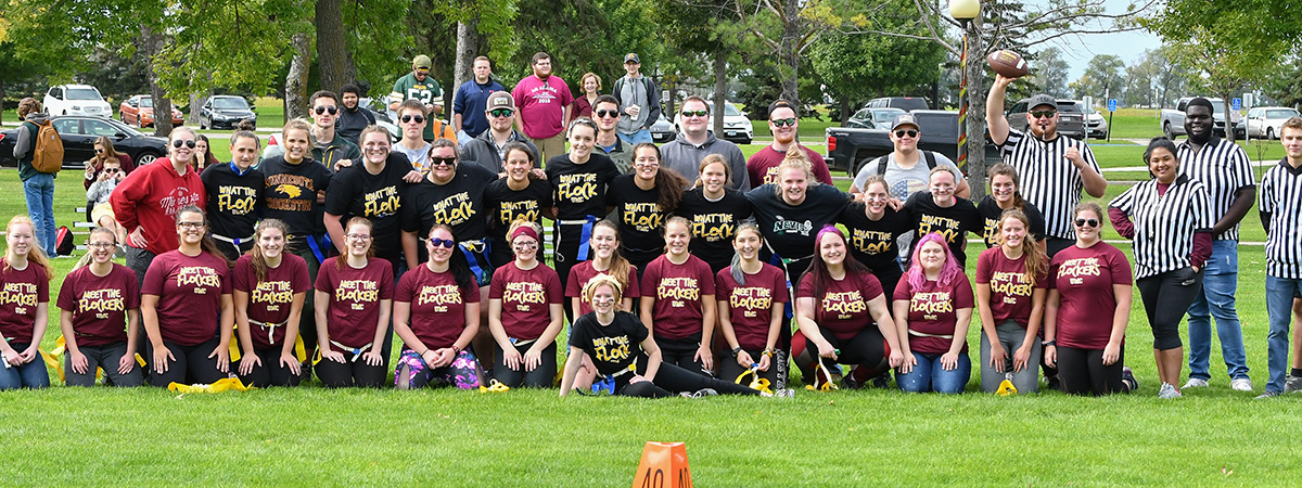 Homecoming Powderpuff football players, coaches and refs