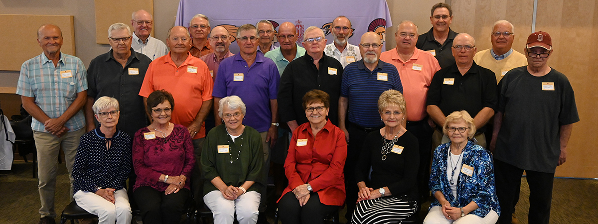 Group photo of the Northwest School of Agriculture classes of 1960-1968 at the 2020 Arizona Social.