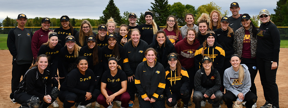 Homecoming 2019 Alumni Softball Game members and coaches