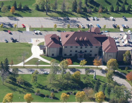 aerial view of Kiehle Building