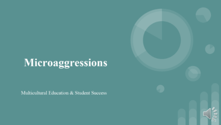 Presentation cover image for Microagression