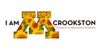 I am Crookston Twitter cover graphic with sunflowers