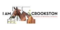I am Crookston Twitter cover graphic with a horse