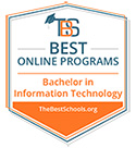 The Best Schools - Best Online Programs - Bachelor in Information Technology Management Award Badge