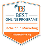 The Best Schools - Best Online Programs - Bet Bachelor in Marketing Award Badge