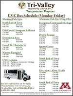 UMC THE Bus Schedule Cover