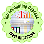 """Most Affordable Online Bachelor's in Finance"" by Top Accounting Degrees Award Badge"
