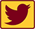 Twitter Icon in Maroon and Gold