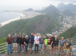 Group of thirteen students from the University of Minnesota Crookston in Brazil over spring break.