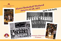 UMC Alumni Basketball Weekend Postcard - Click to learn more!