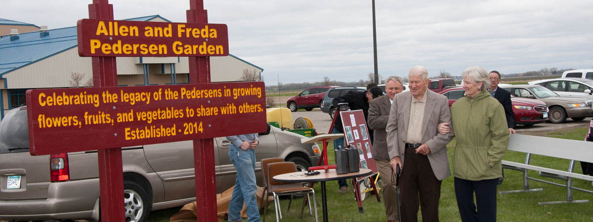 Allen and Freda Pedersen Garden dedication