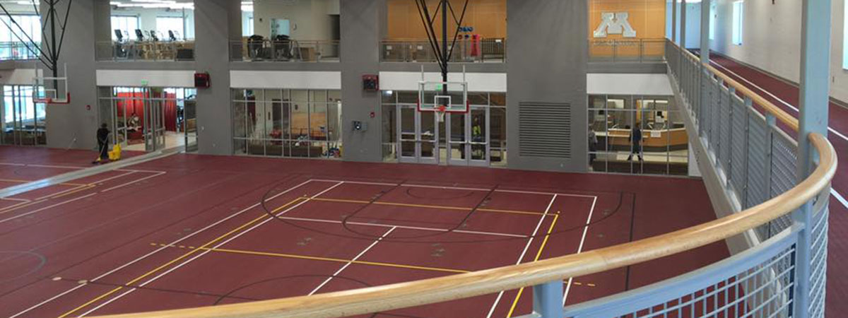 Wellness Center track and basketball courts.