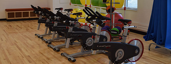 Equipment in the UMC Wellness Center Multipurpose Room